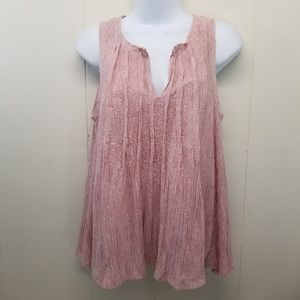 Meadow Rue S Swing Tank Top Blush Pink Anthro